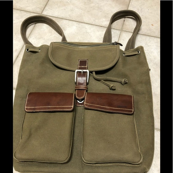 Fossil Handbags - Fossil Backpack 10552 Expedition Olive Canvas